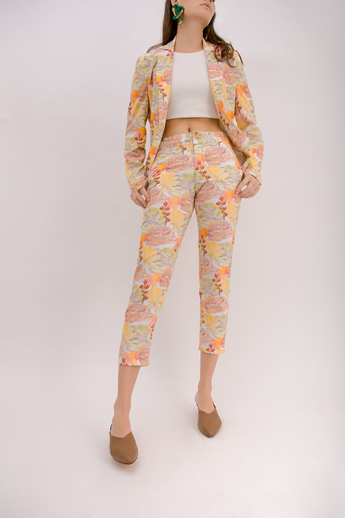 Cropped Flower Pants