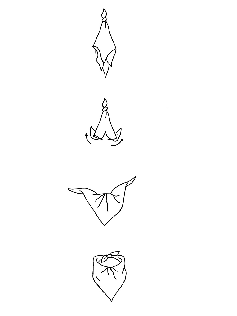 CARMENTA - drawing textured triangle knot tutorial, Costa Rica design and art printed on fabric