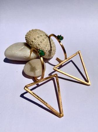 Emerald Triangle Maxi Earring