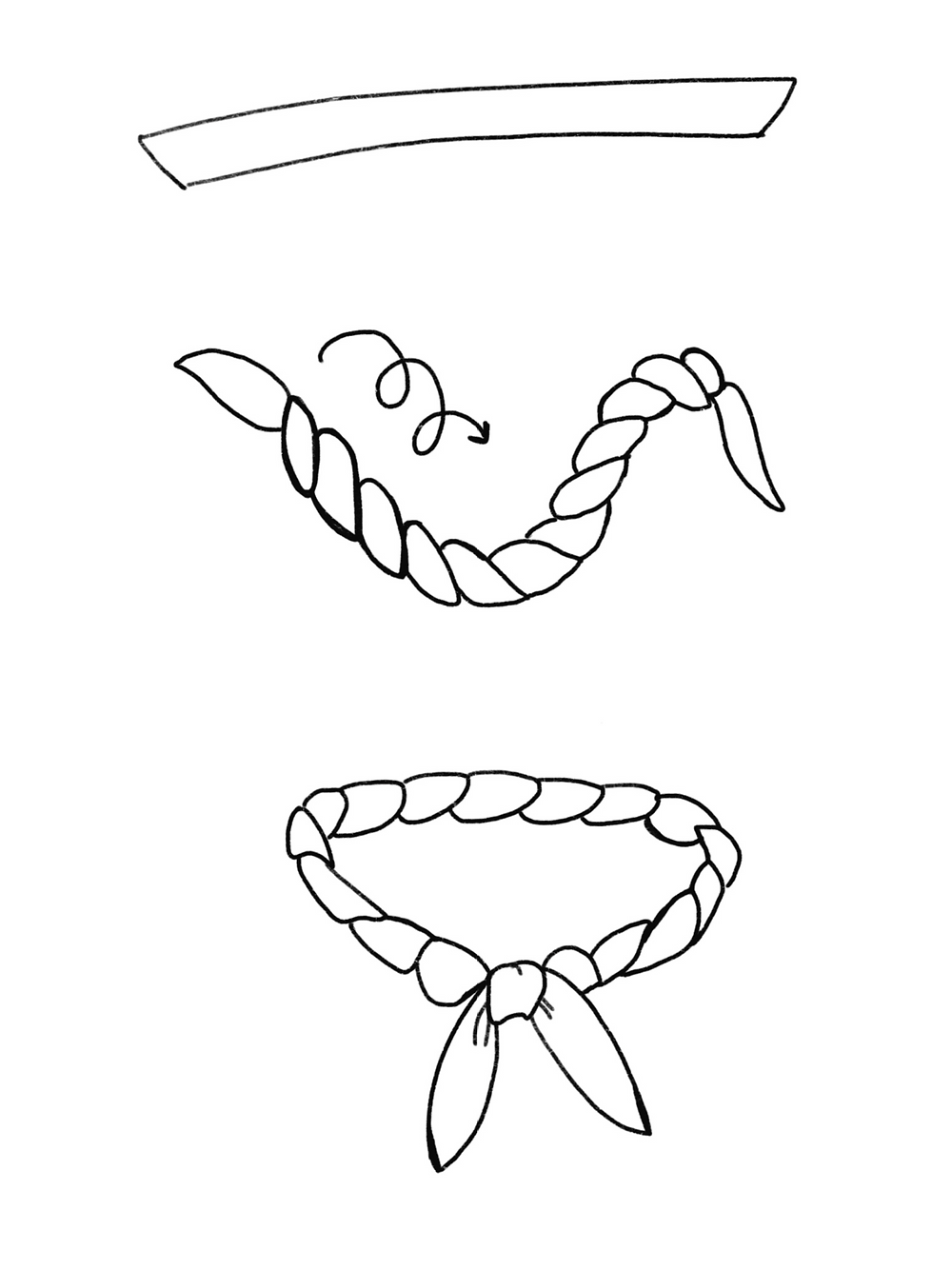 CARMENTA - drawing twisted knot tutorial, Costa Rica design and art printed on fabric