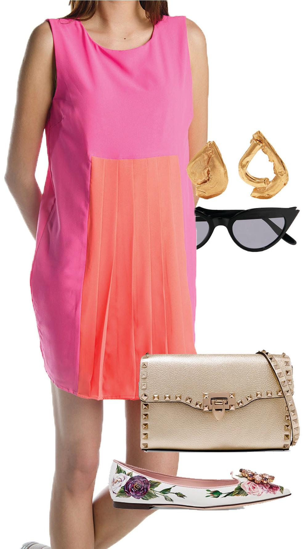 CARMENTA look fin de semana - vestido paletones