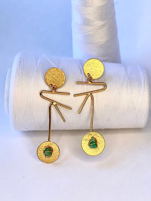 Emerald Maxi Earring
