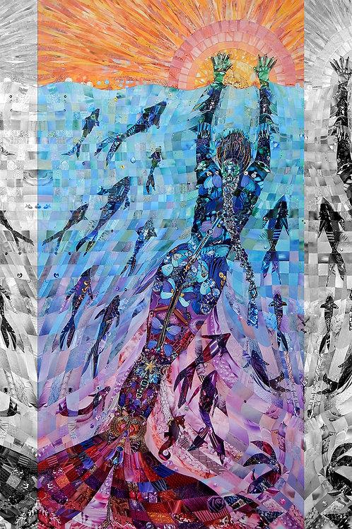 The Mermaids - 3 Art Prints