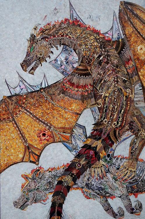 The Dragons, 4 Art Prints
