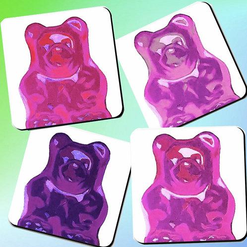 PinkBerry Bear Coasters