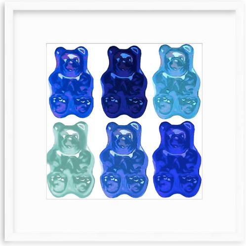 Blue Bear Collage