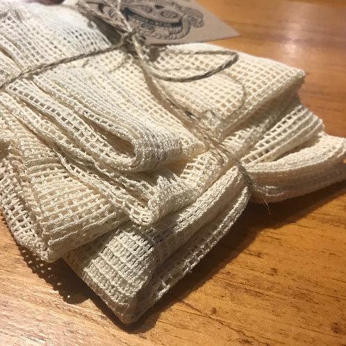 100% Cotton Mesh Produce Bags S/M/L