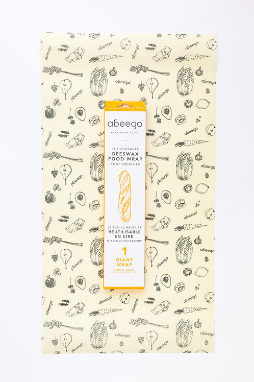 Abeego - 1 GIANT | BEESWAX FOOD WRAP
