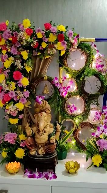 DIY Ganpati Flower Decoration Workshop