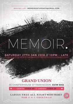 Memoir Grand Union Urban Party
