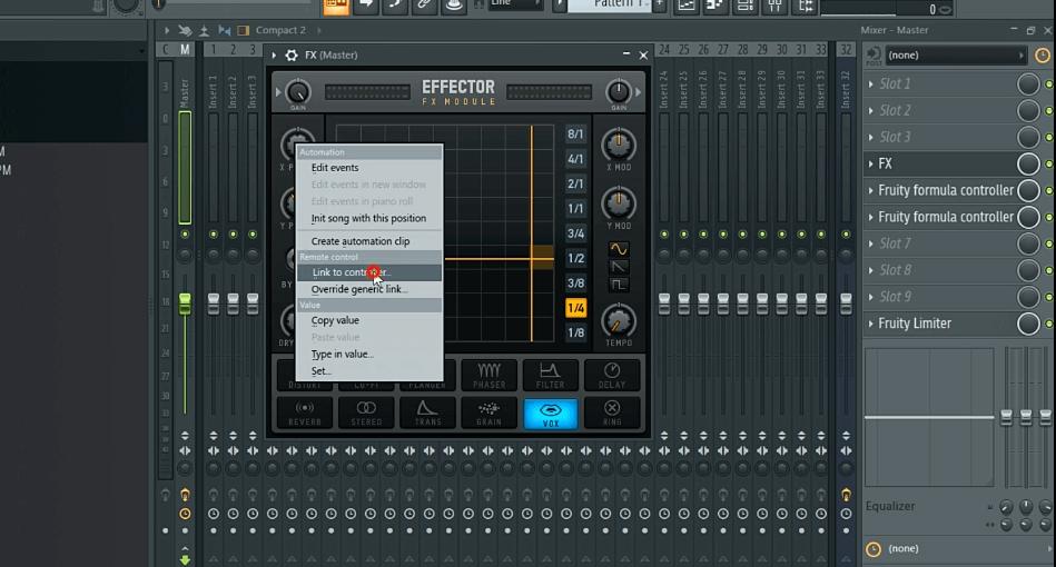 FL Studio Linking perameter