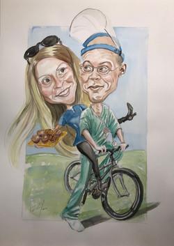Doctors on a bike