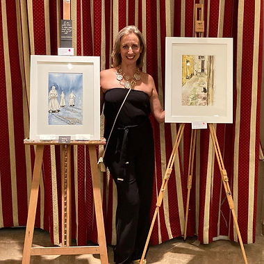 Sold both paintings that I exhibited in the collective exhibition to raise funds for Smiling With Jerome Foundation.