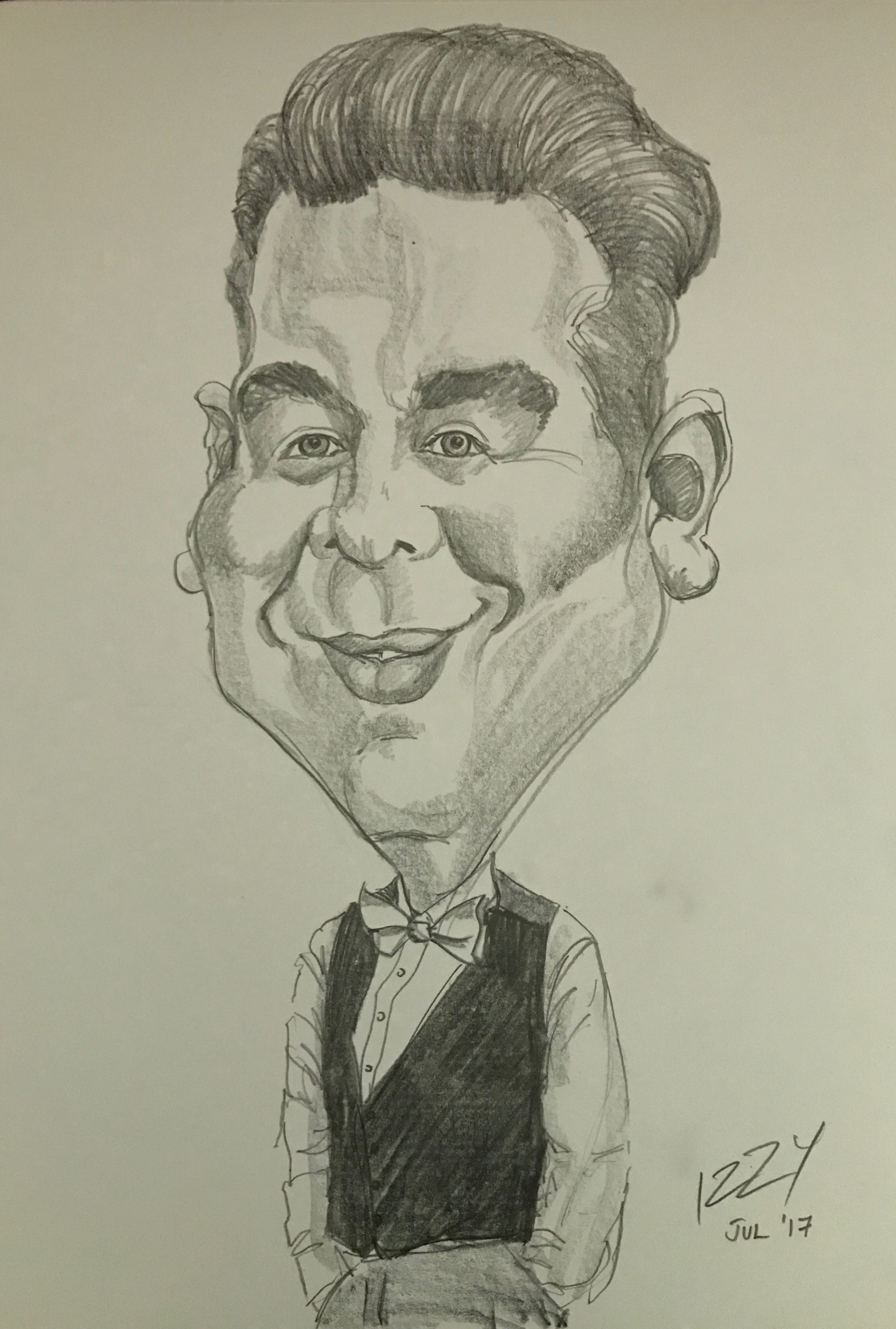Caricature during a wedding