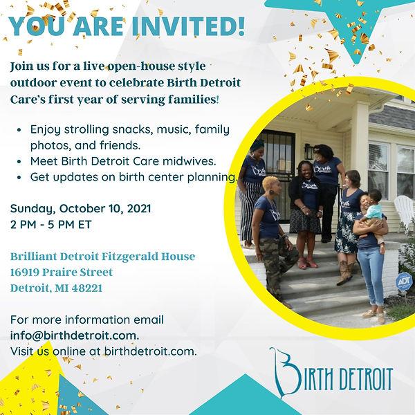 Birth Detroit Care first anniversary