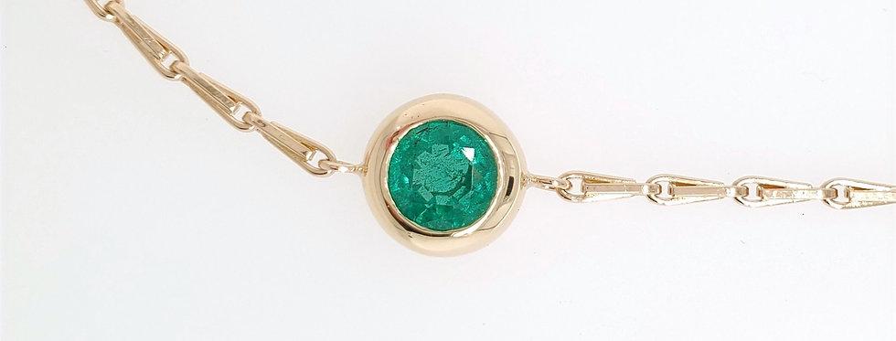 Bracelet BATARI 18kt yellow gold with Emerald