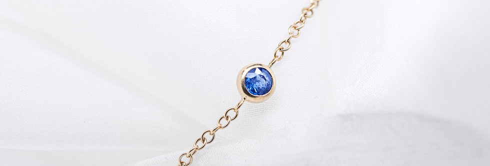 Bracelet BATARI 14kt yellow gold with blue Sapphire