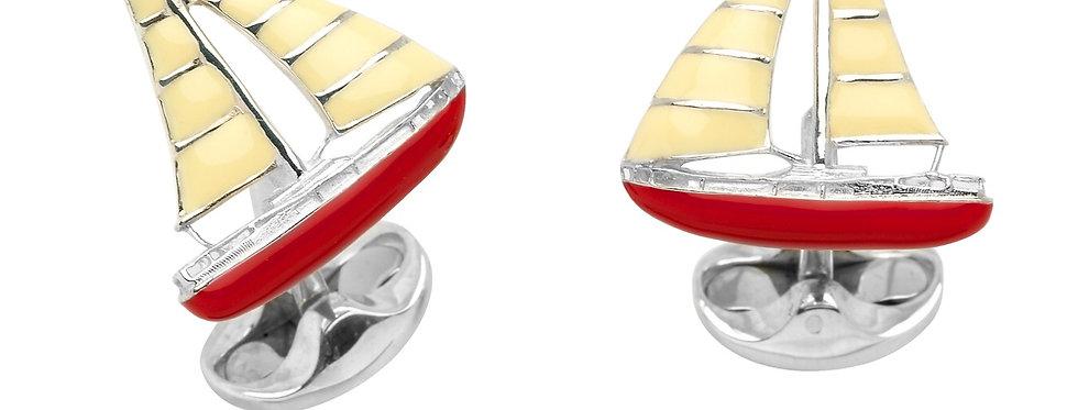 Deakin & Francis Sterling Silver Yacht Cufflinks