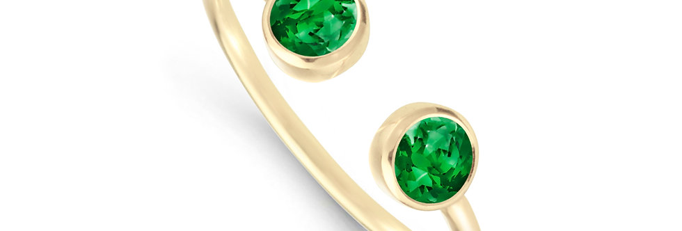 GAIA 14kt yellow gold - Emerald, Sapphire, Ruby