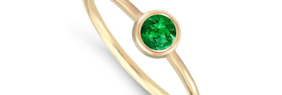 AMALIA 14kt yellow gold - Emerald, Ruby, Sapphire