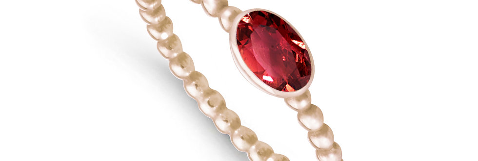 CATALINA 14kt rosé gold - Ruby, Emerald, Sapphire