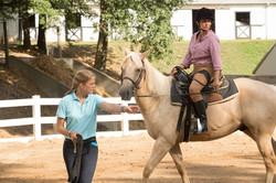 Kelcy leading a rider
