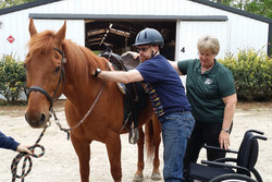 Equine therapy builds confidence!