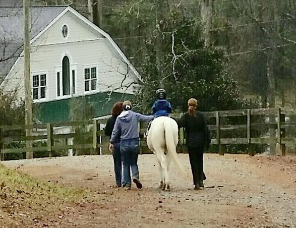 Heading back to the barn