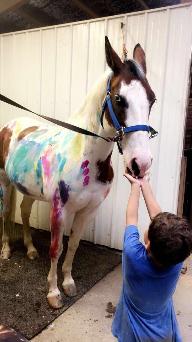 Spreading love (&paint) for horses!