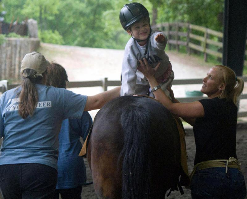 Hippotherapy does wonders!