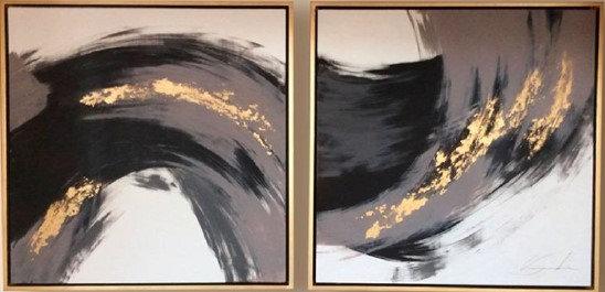 Set de 2 cuadros decorativo CA031