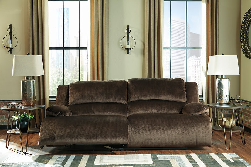 Sofá con 2 reclinables