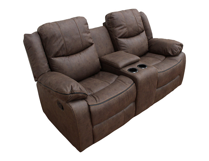 Love seat con 2 reclinables y consola central 9824
