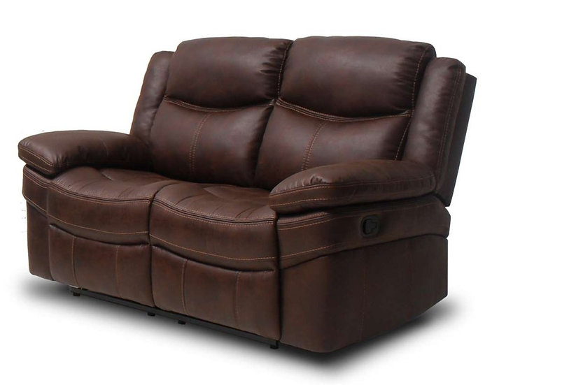 Love seat con 2 reclinables