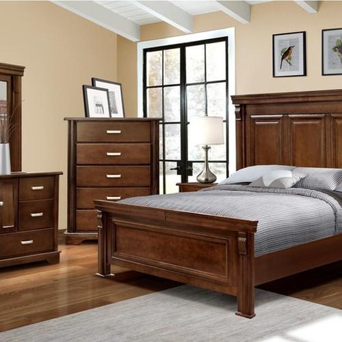 Recamaras de madera juego de cama semirstica estilo for Recamaras individuales dico