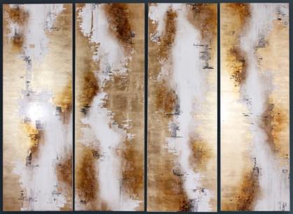 Set de 4 cuadros decorativos CA221