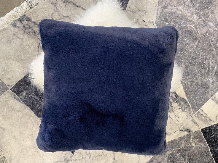 Cojín Faux Chinchilla Azul