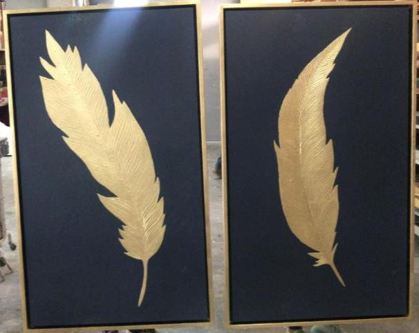 Set de 2 cuadros decorativos CA434