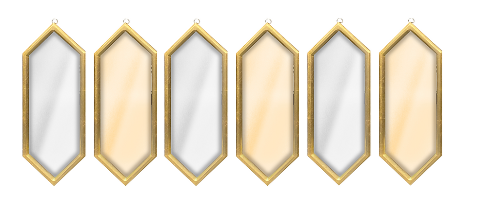Set de 6 espejos decorativos CAE121