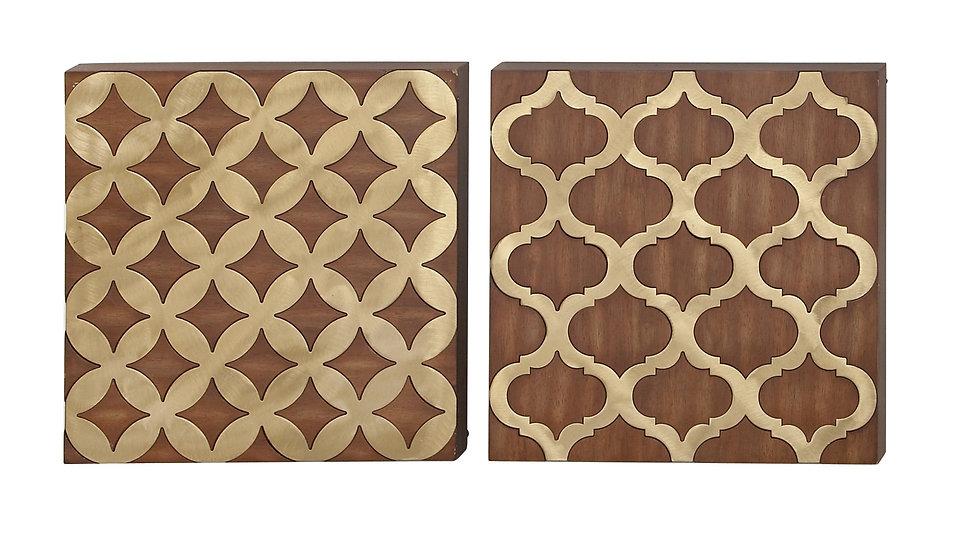 Set de 2 decorativos de pared 45918