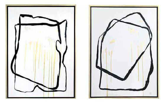 Set de 2 cuadros decorativos COV19656