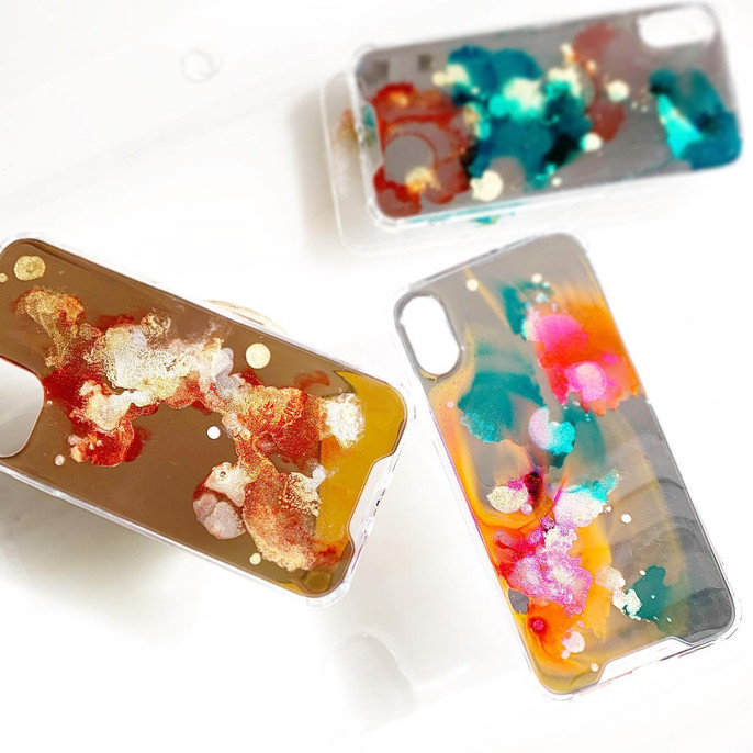 Resin coasted mirror phone case - Bonivo