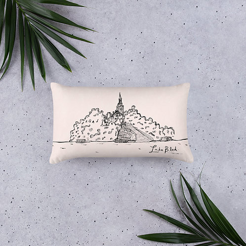 Lake Bled - Pink One Side Pillow 20''x12'' - Slovenia Cushion - Home Decor