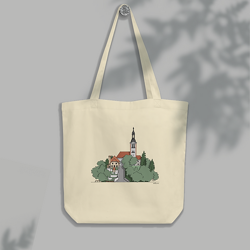 Carry Bled Island With You - Eco Organic Tote Bag Summer - Designed by ODMOR