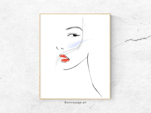 Lips-Fashion Illustration digital drawin