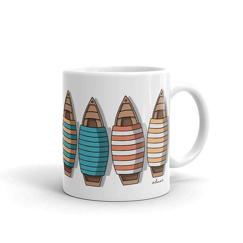 Pletna Boat - Bled - White glossy mug - Designed by Odmor