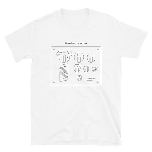 AutoCAD Save the Bear Tee - White Short-Sleeve Unisex T-Shirt
