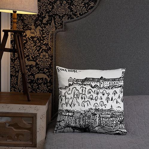 Ljubljana Castle - Pillow 18''x18'' - Slovenia Cushion/Pillow - Wedding Gift