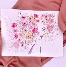 Blossom- Original watercolour illustrati