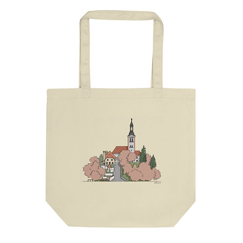 Carry Bled Island With You - Eco Organic Tote Bag Spring - Designed by ODMOR